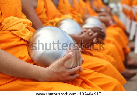 Bowl carried by Monks