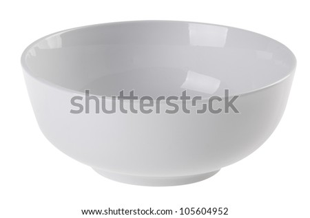 bowl, ceramic bowl on white background