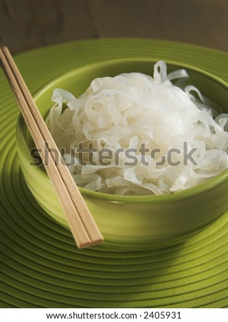 bowl of asian rice noodles
