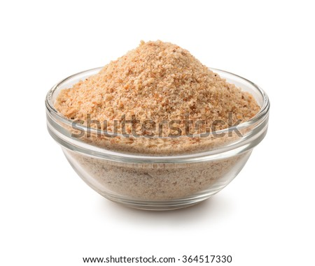 bowl of breadcrumbs isolated on ...