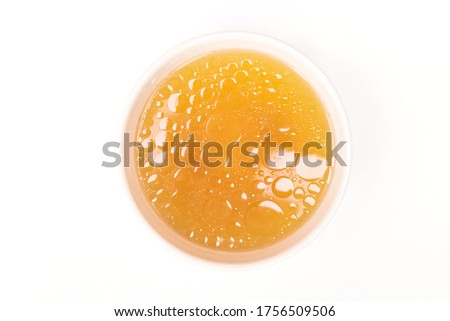 Bowl of chicken broth isolated on white background. Сток-фото ©