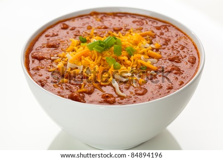 Bowl of Chili  2 - stock photo