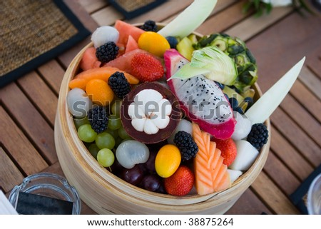 Bowl of different fruits