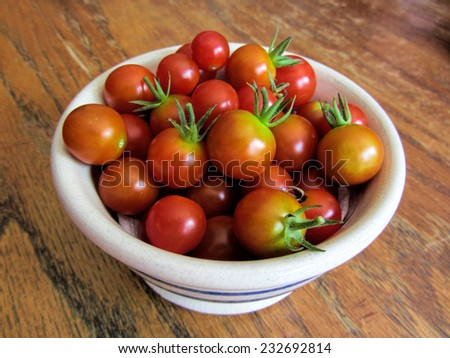 Bowl of Fresh Picked Cherry Tomatoes/Bowl of Fresh Picked Cherry Tomatoes/Bowl of Fresh Picked Cherry Tomatoes