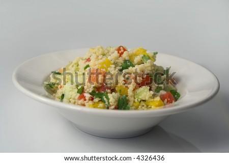 Bowl of fresh tabbouleh