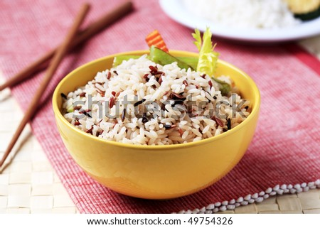 Bowl of mixed rice