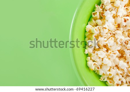bowl of popcorn with copyspace