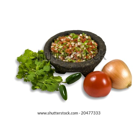 Bowl of Salsa illustrating ingredients