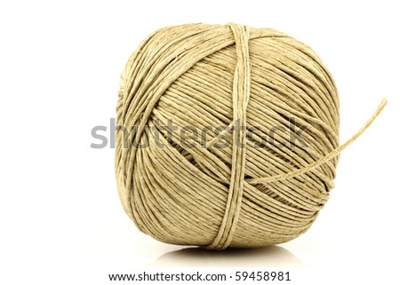 bowl of thread isolated on a white background