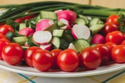 bowl of vegetables closeup