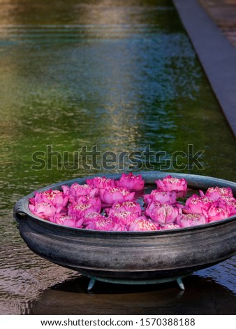 Bowl with Lotus flowers, Thailand