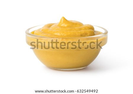 Bowl with mustard isolated on white background #632549492