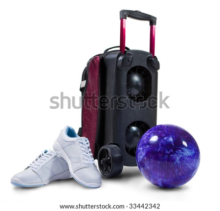 Bowling Accessories Professional Shoes Ball And Cart
