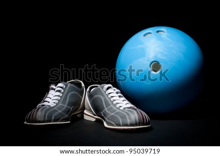 bowling ball and bowling shoes