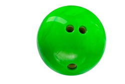 bowling ball green isolated on white background
