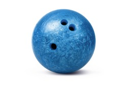 Bowling ball isolated over a white background.