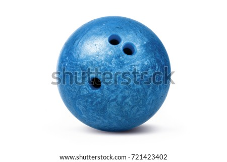 Bowling ball isolated over a white background. #721423402