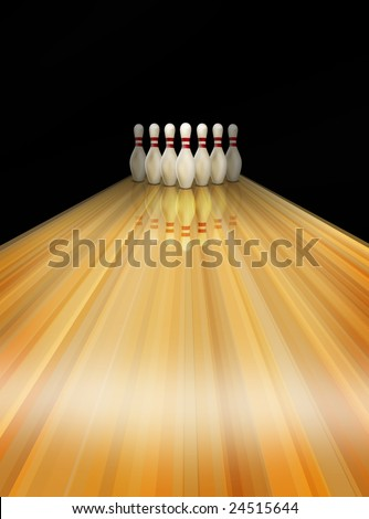 Bowling alley lane texture