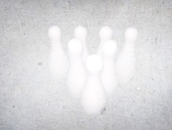 Bowling pins as watermark photo
