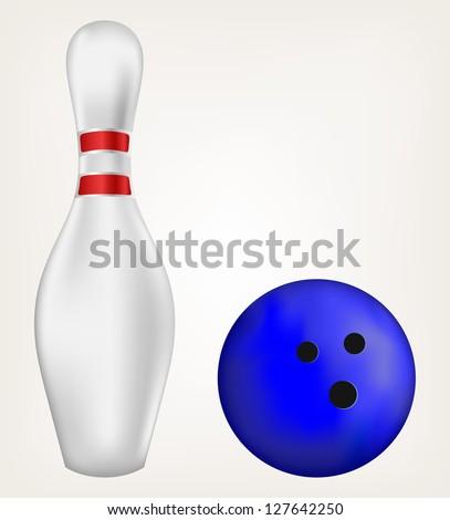 Bowling. Raster version