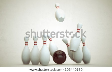 bowling stuff isolated on white background