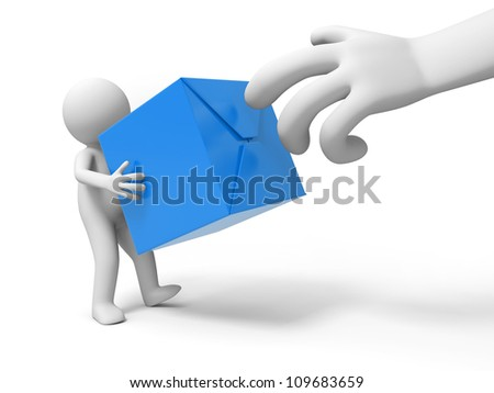 box/ A people is holding the box - stock photo