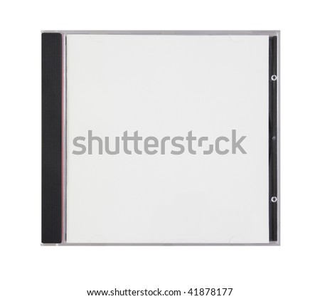 box for disk with blank cover is on white