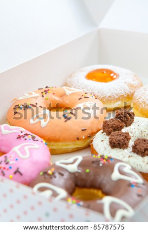 Box full of donut set