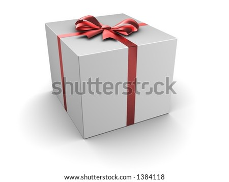 Box gift with satin bow