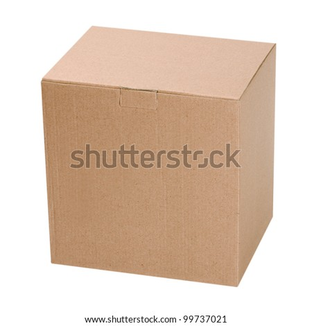 box isolated on white background