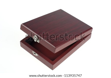 Box made from wood- for wine staff - stock photo