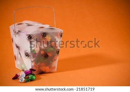 box of Halloween candy