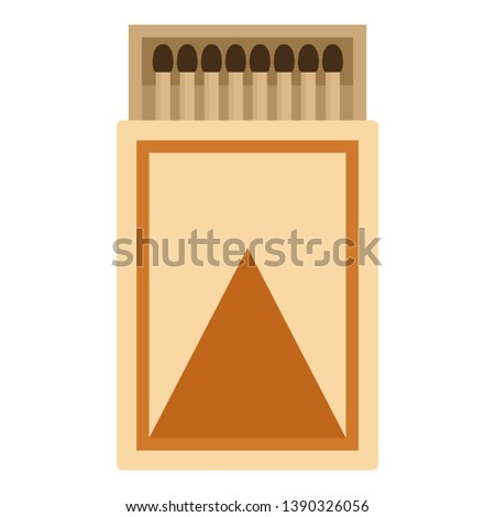 Box of matches icon. Flat illustration of box of matches icon for web design