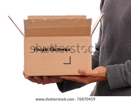 Box of Recyclable Electronics