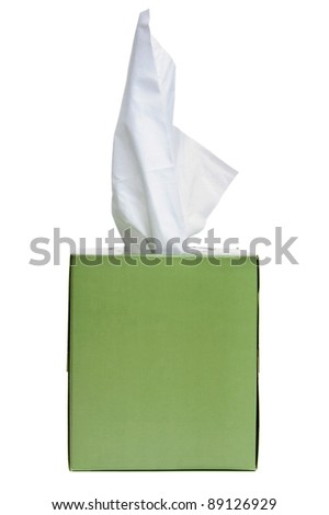 Box of tissues isolated on a white background