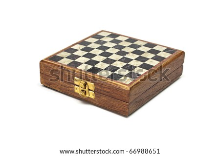 Box with a chess on a white background.