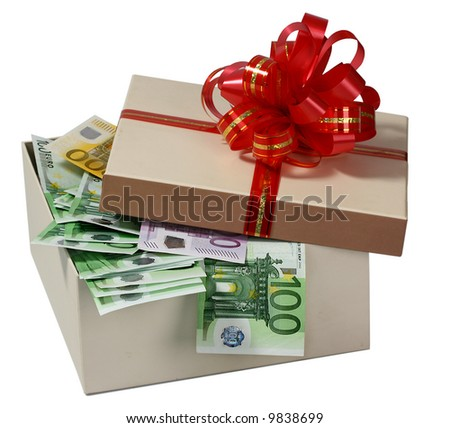 Box with a money. - stock photo
