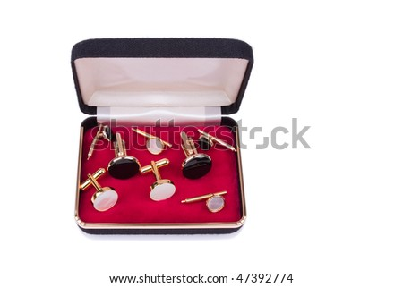Box with assorted cuff links