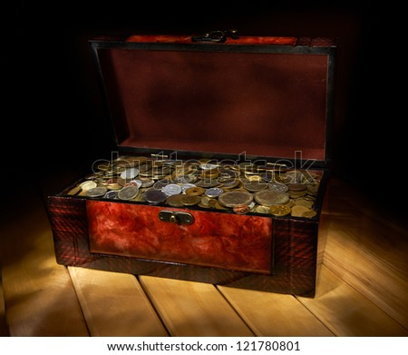 Box with coins