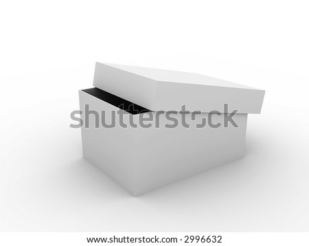 box with open lid
