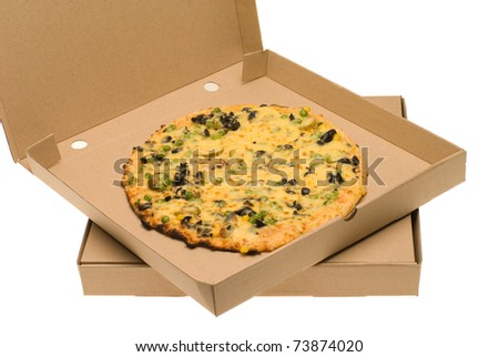 Box with pizza in it