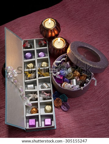 Box with sweets