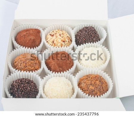 box with various sweets