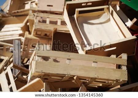 Box Wooden box Box Transport box #1354145360
