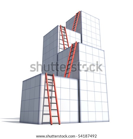 Boxes and ladders