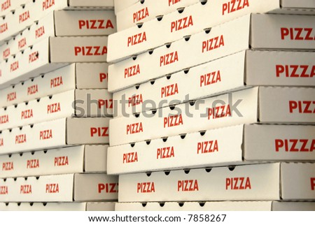 Boxes for pizza delivery