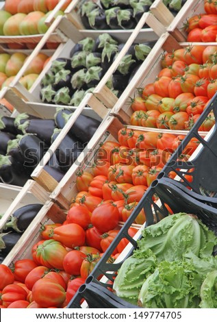 boxes full of fresh fruits and vegetables and seasonal fruit and vegetable market at retail and wholesale 4