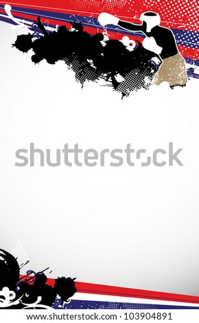 Boxing background with space (poster, web, leaflet, magazine) - stock photo