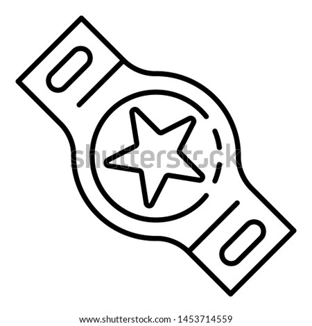 Boxing champion belt icon. Outline boxing champion belt icon for web design isolated on white background