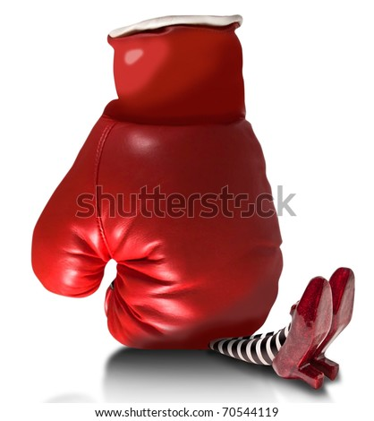 Boxing glove fallen on wicket witch